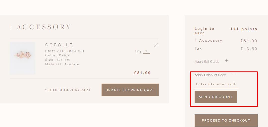 How do I use my Alexandre de Paris discount code?