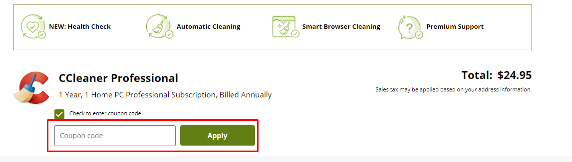 How do I use my CCleaner coupon code?