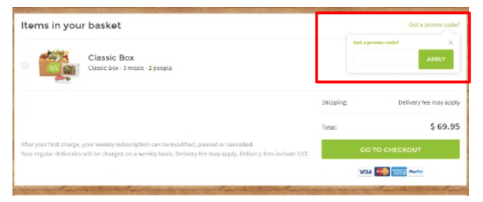 How do I use my HelloFresh discount code?