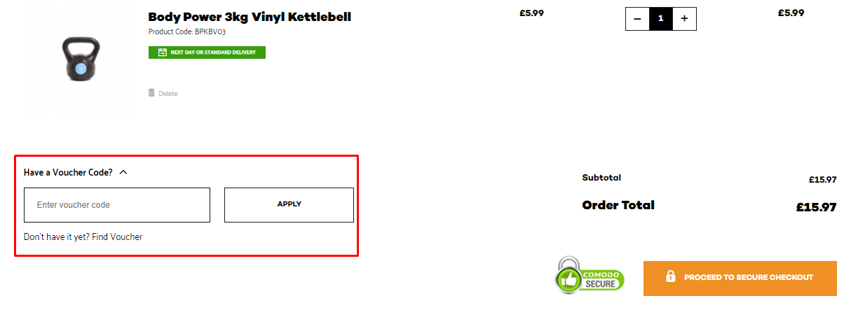 How do I use my Fitness Superstore voucher code?