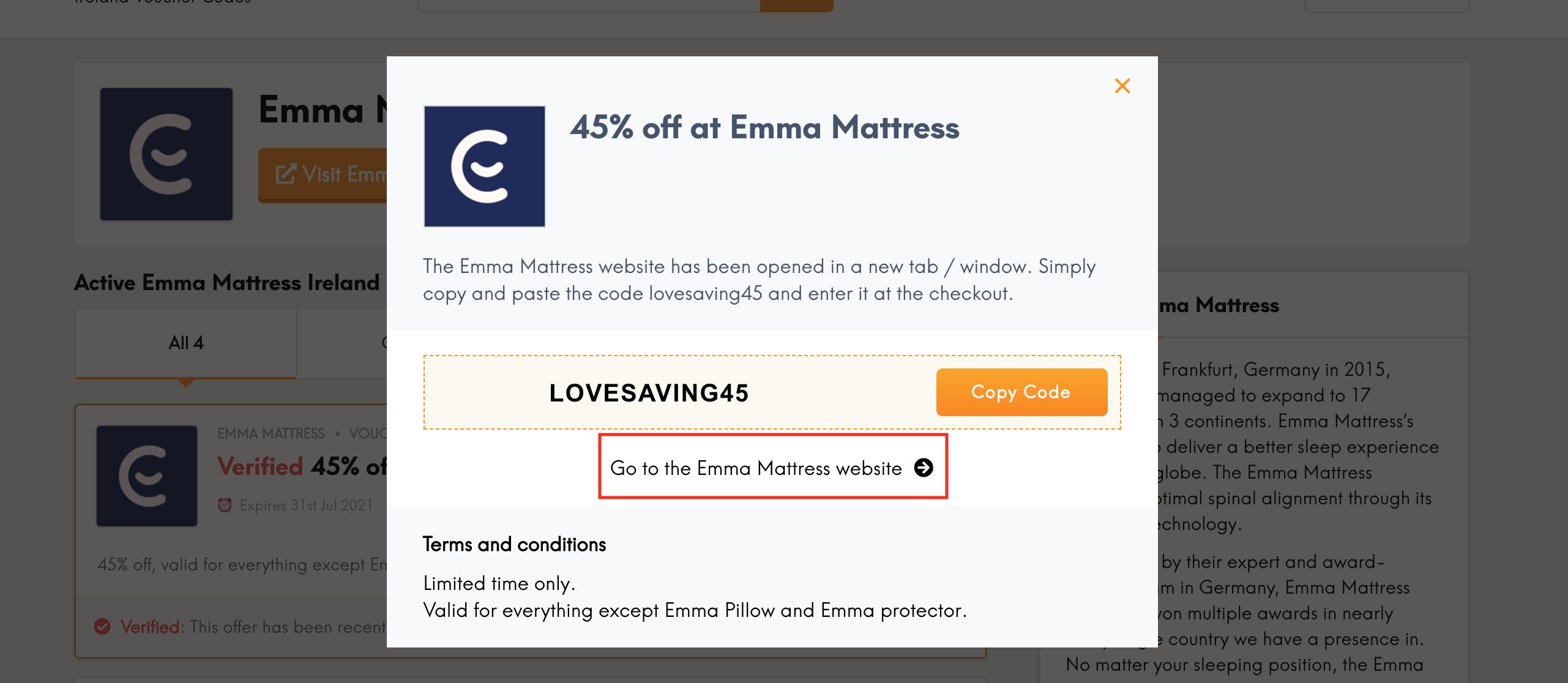emma mattress go to website