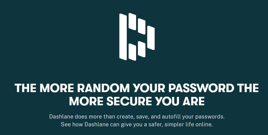About Dashlane Homepage