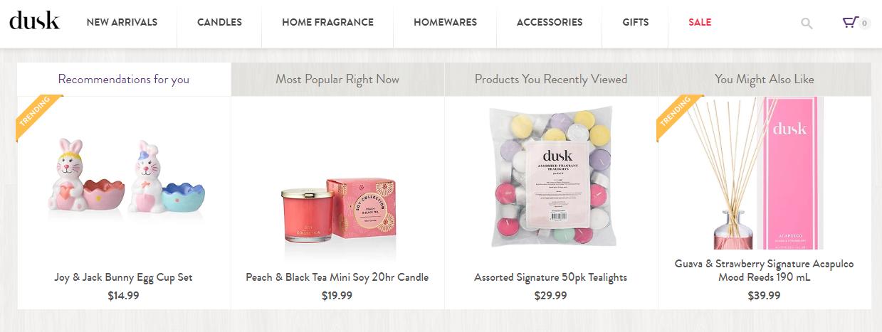 Dusk Homepage