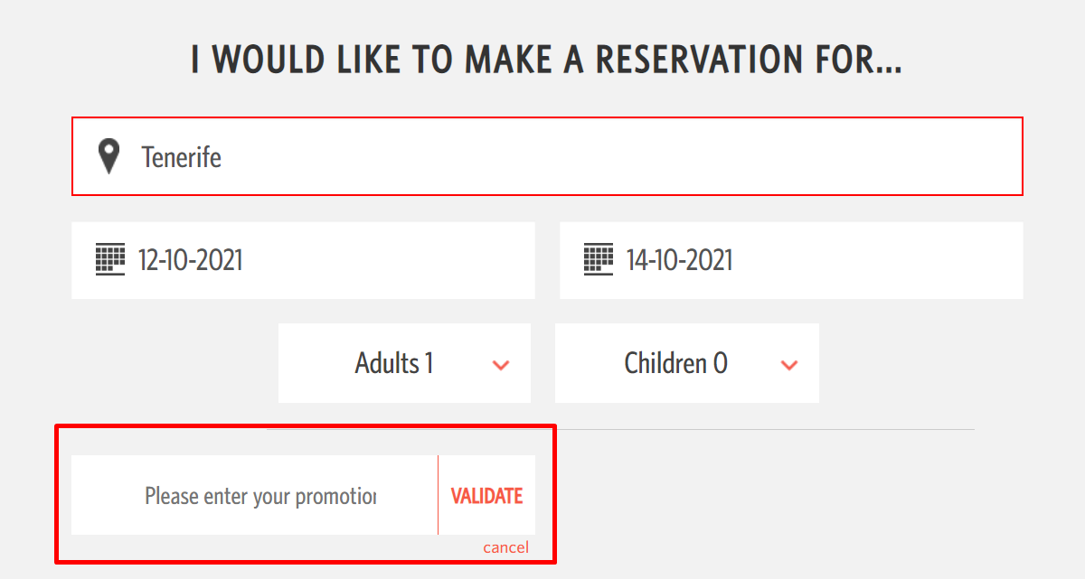 How do I use my Dream Place Hotels promotional code?