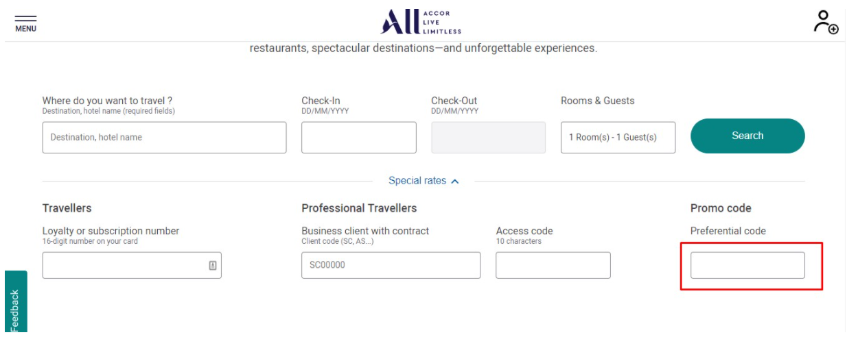 How do I use my Accor Hotels promo code?
