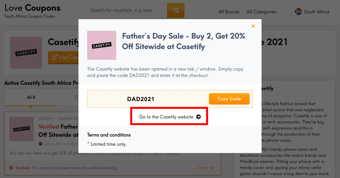 Casetify ZA Get Coupon