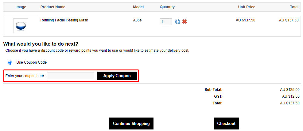 How do I use my Premier Cosmetics coupon code?