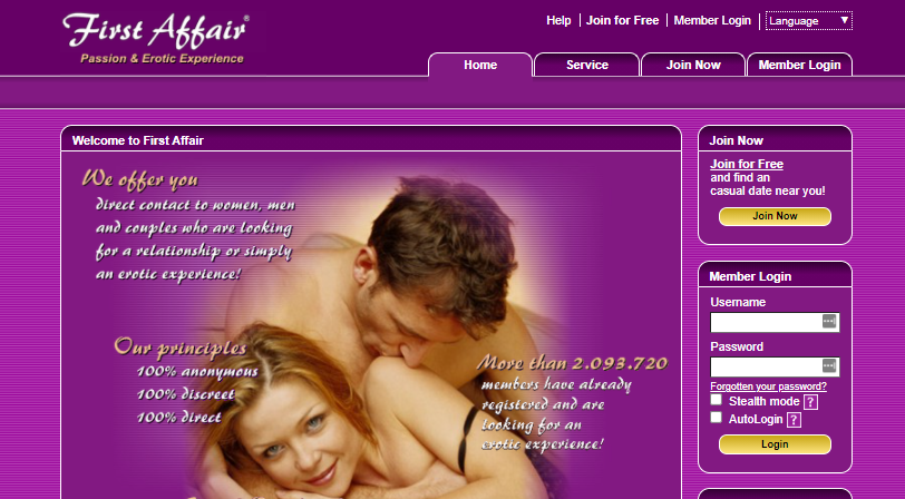 About First Affair Homepage