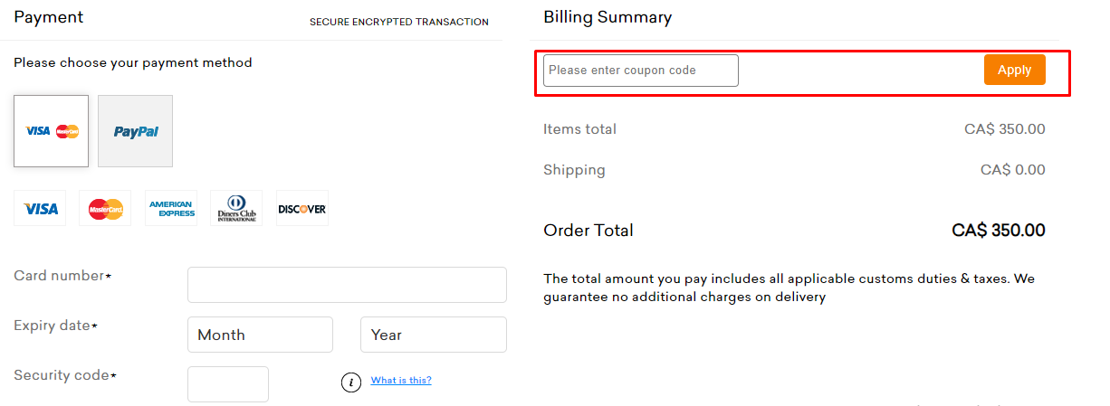 How do I use my Coupon Code?