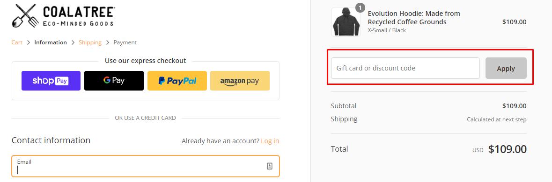 How do I use my Coalatree discount code?