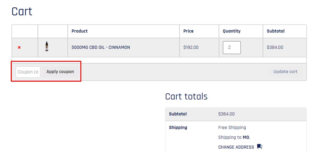 How do I use my American Hemp Oil coupon code?