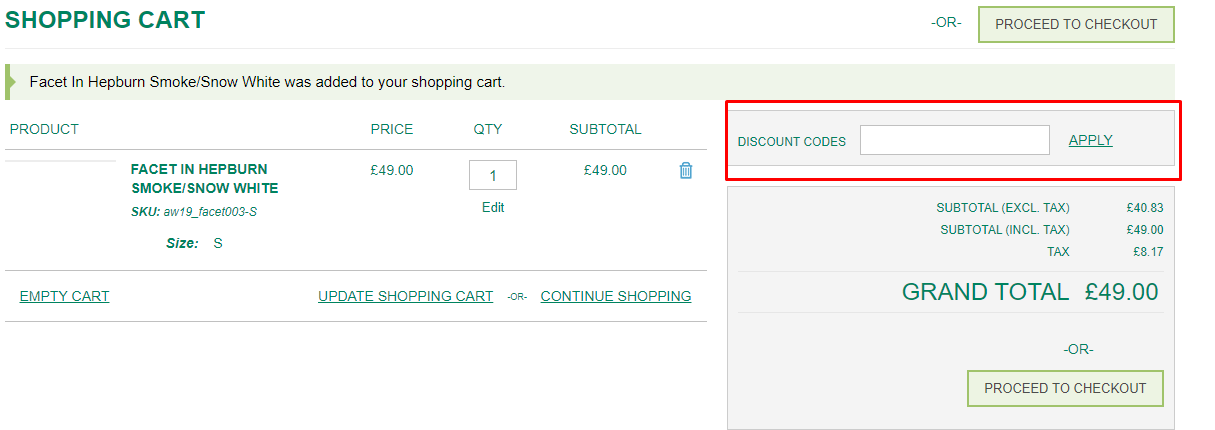 How do I use my John Smedley Outlet discount code?