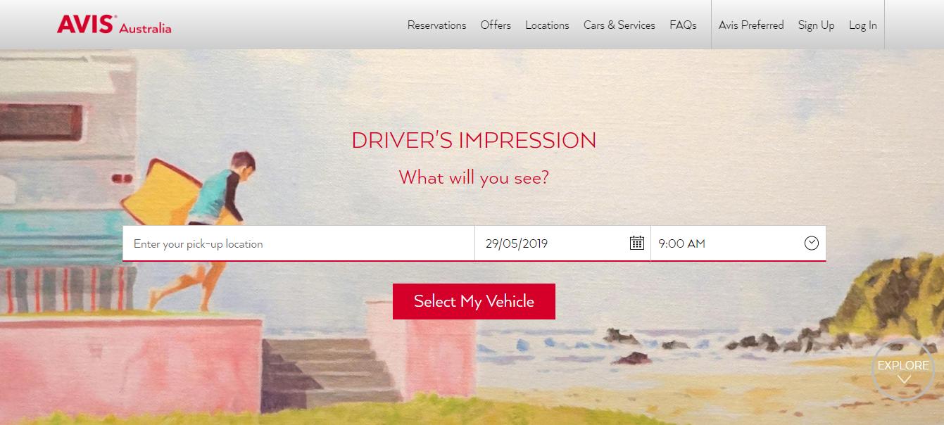 Avis Homepage
