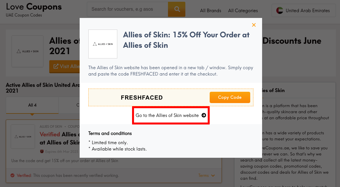 Allies of Skin AE Get Coupon