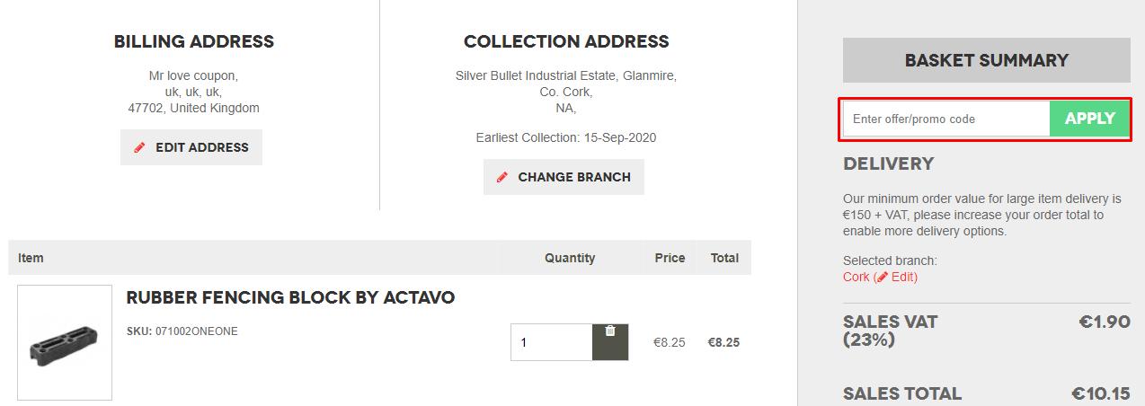 How do I use my Actavo Direct promo code?