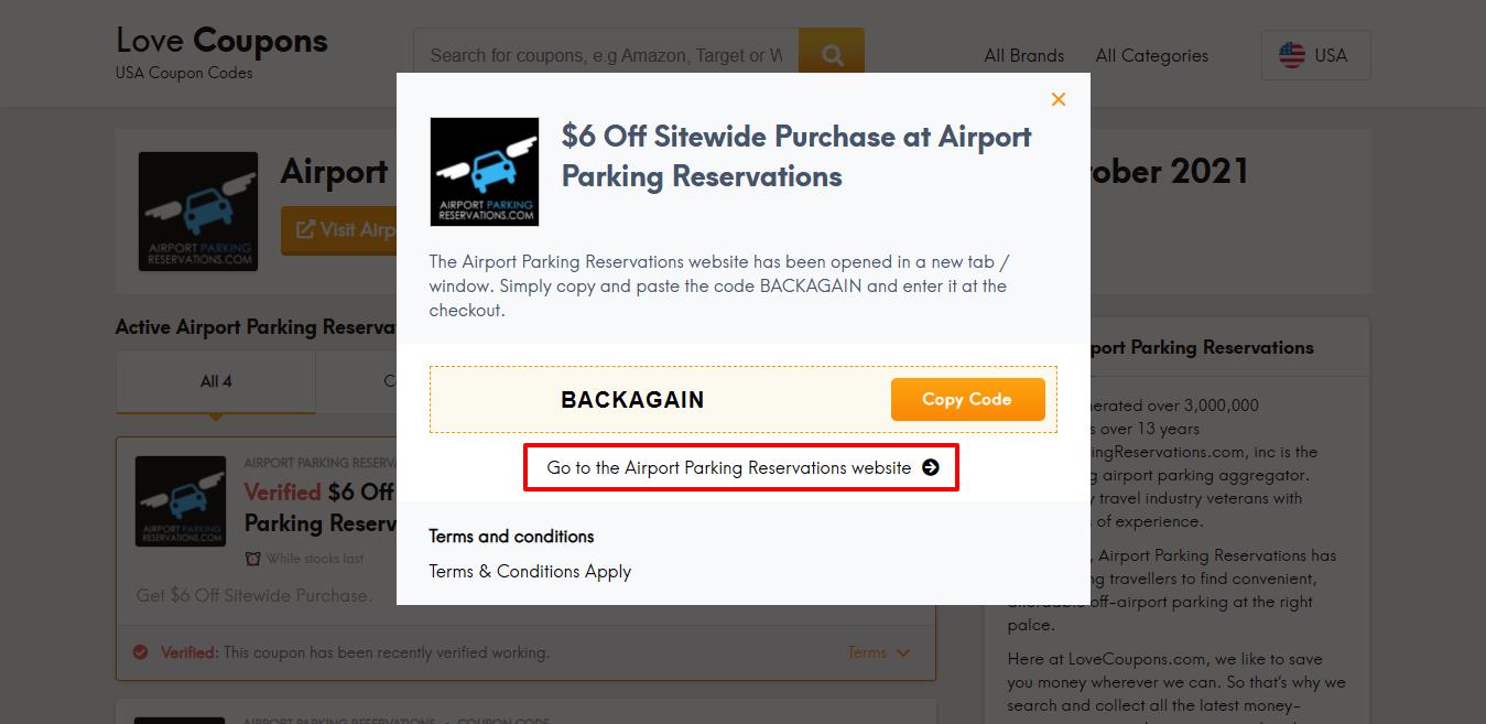 airport parking website