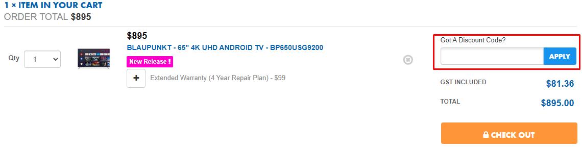 How do I use my Bing Lee discount code?
