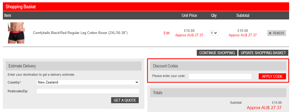 How do I use my Dead Good Undies discount code?