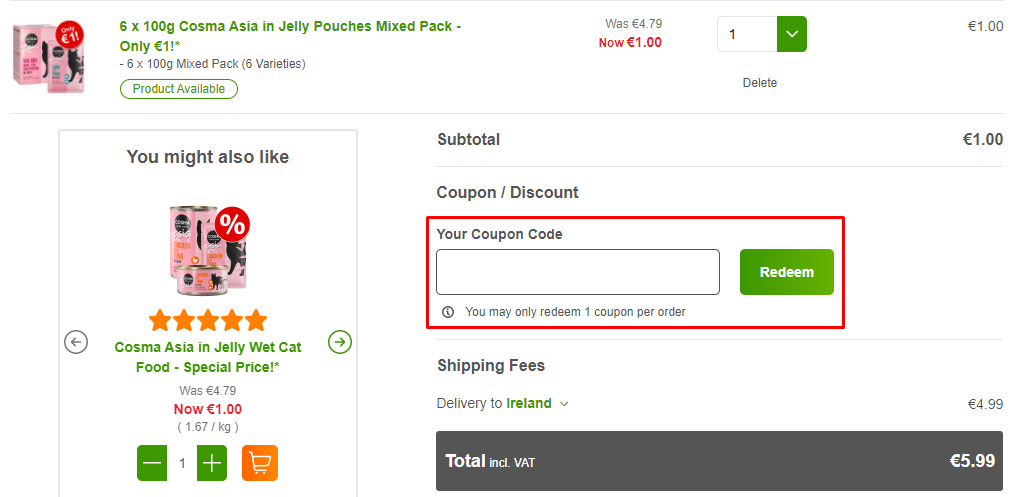 How do I use my Zooplus coupon code?
