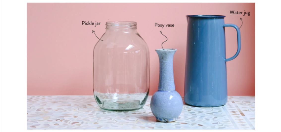 Choose the perfect vase