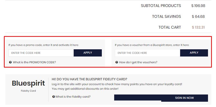 How do I use my Bluespirit discount code?