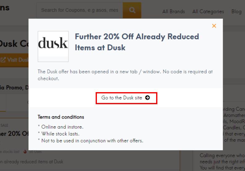 go to Dusk site