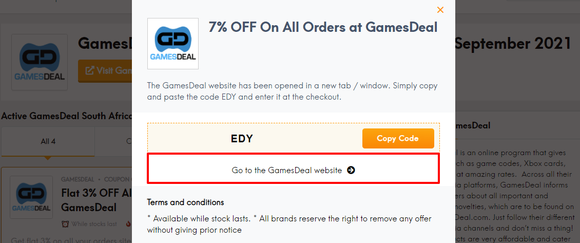 GamesDeal coup sa
