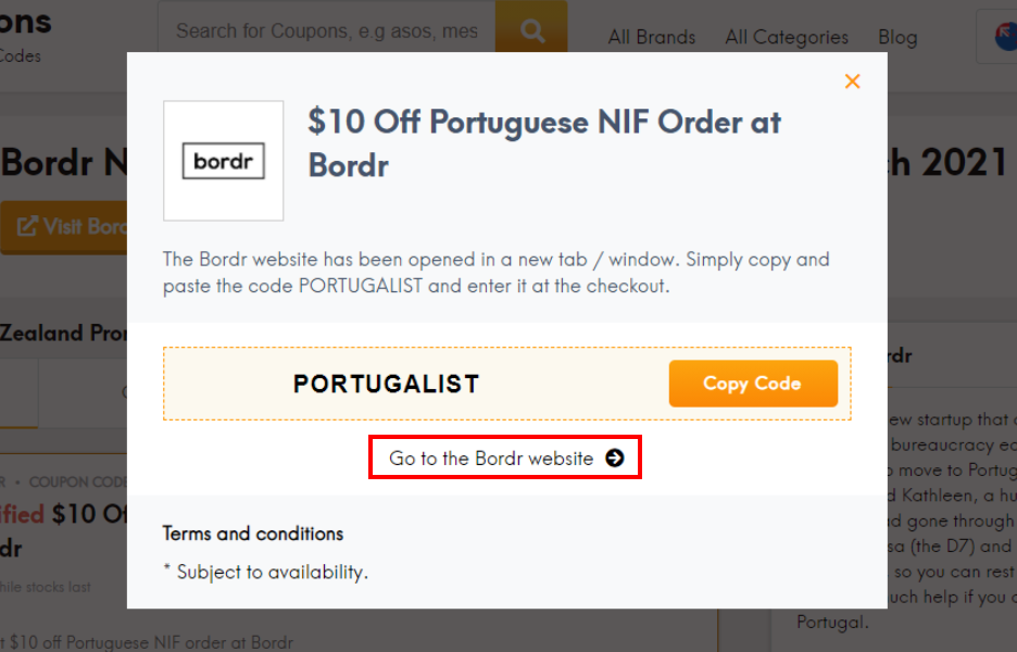How do I use my Bordr coupon code?