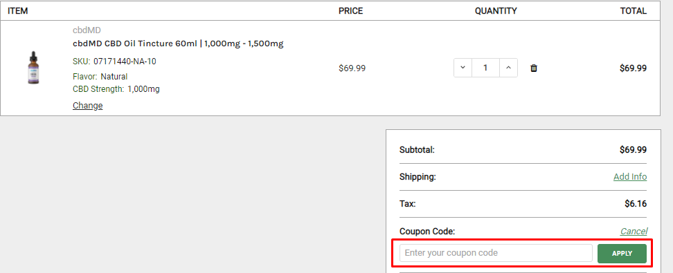 How do I use my CBDResellers coupon code?