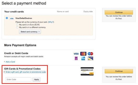 How do I use my Amazon discount code?