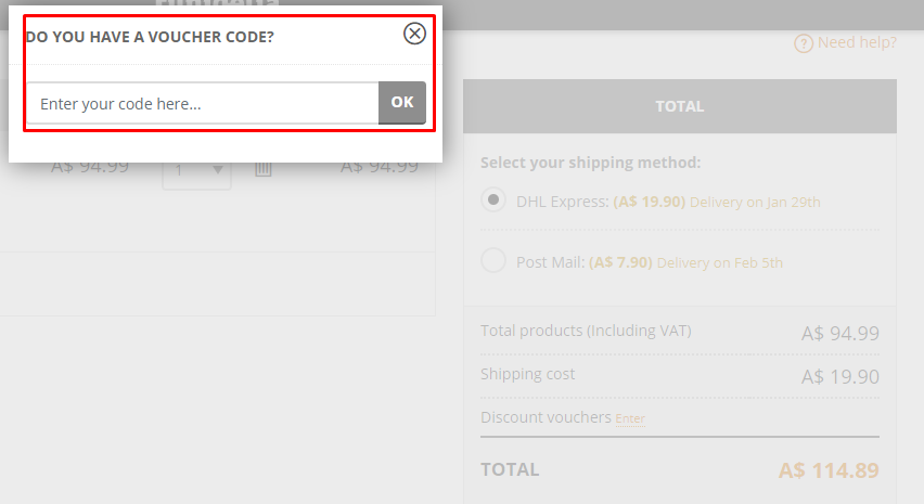 How do I use my Funidelia discount code?