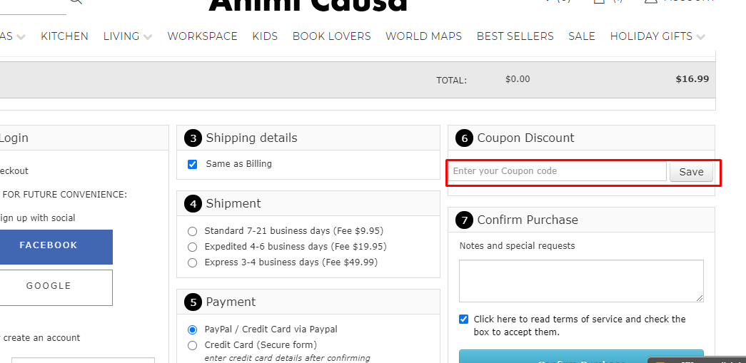 How do I use my Animi Causa coupon code?