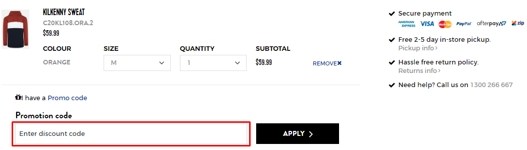 How do I use my Connor discount code?