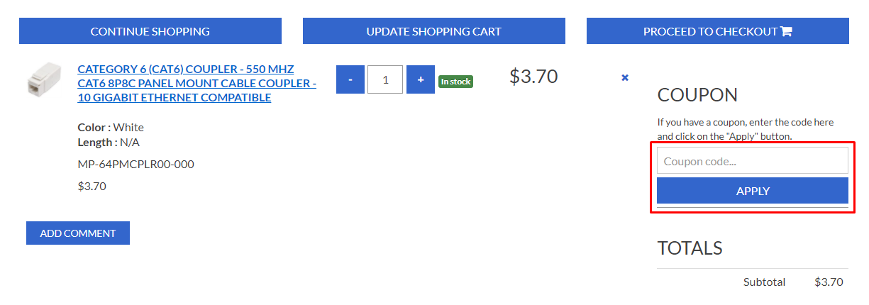 How do I use my Cables On Demand coupon code?