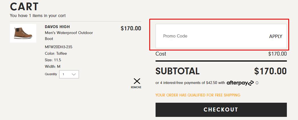 How do I use my Forsake promo code?