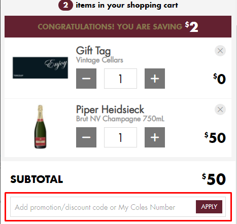 How do I use my Vintage Cellars promo code?