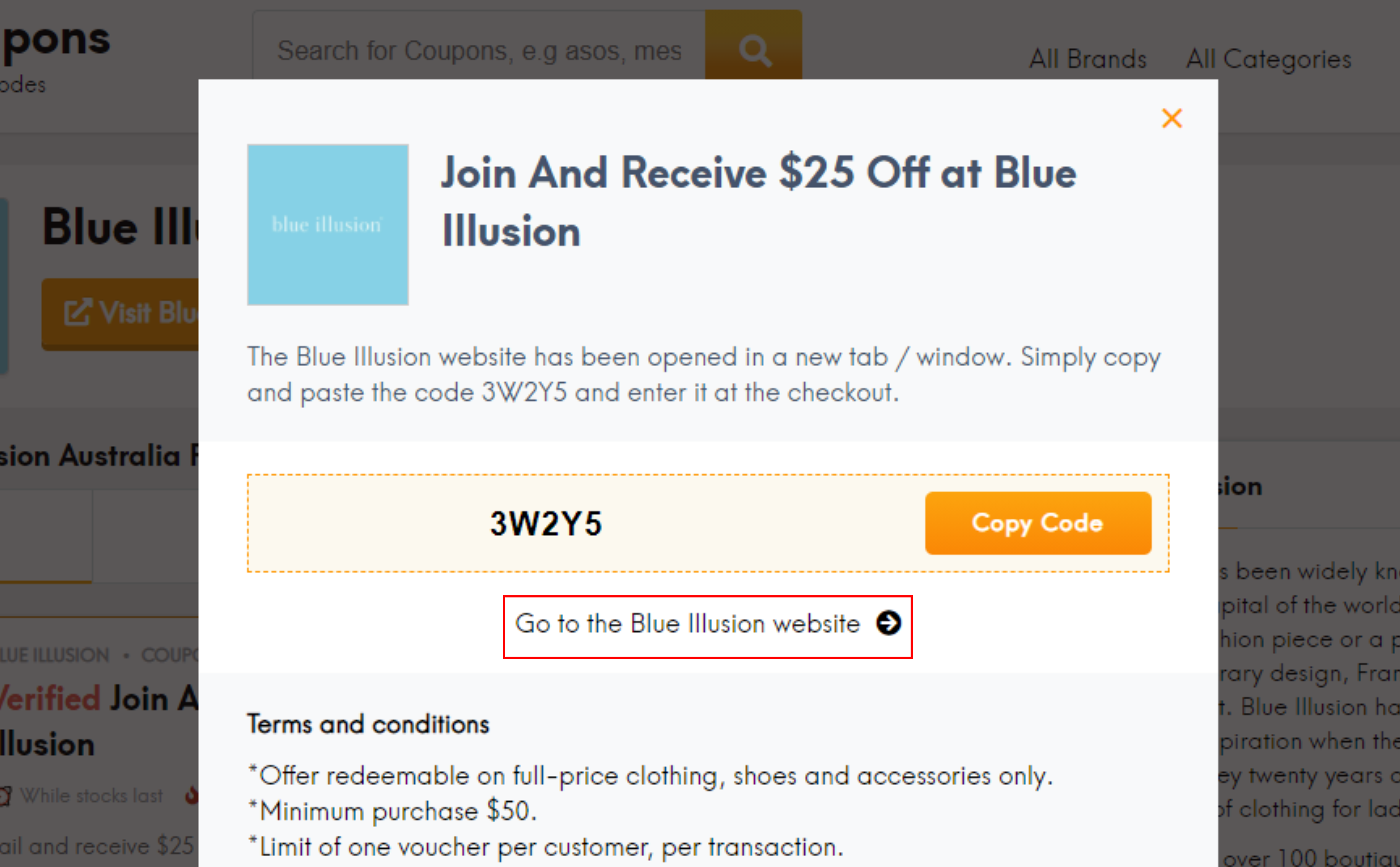 How do I use my Blue Illusion promo code?