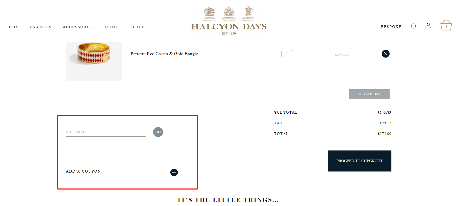 How do I use my Halcyon Days discount code?