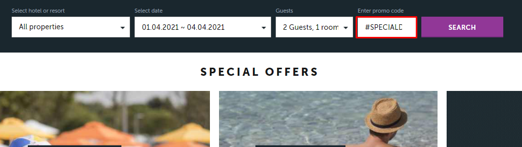 How do I use my Arena Hotels promo code?