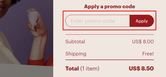 How do I use my OrganiCup promo code?
