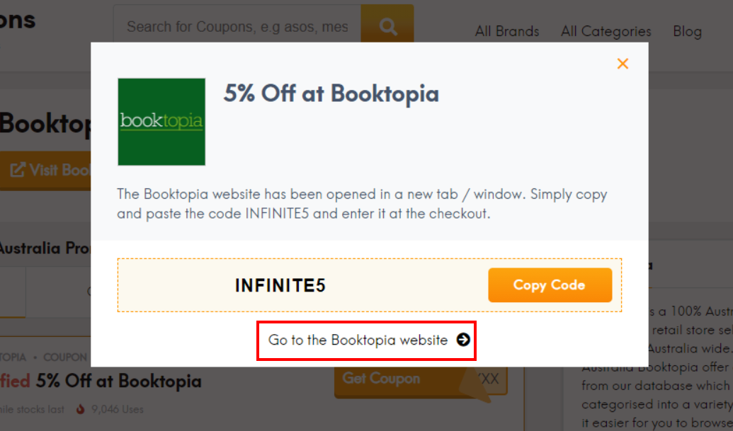 How do I use my Booktopia promotion code?