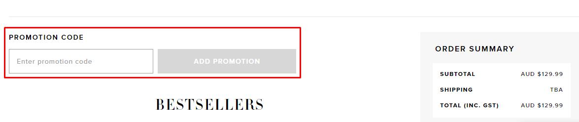 How do I use my Bardot promotion code?