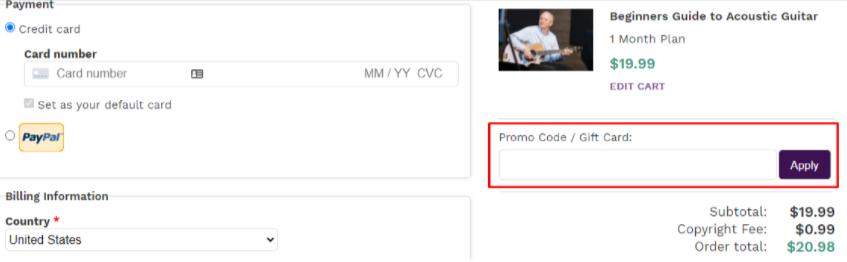 ArtistWorks Promo Code