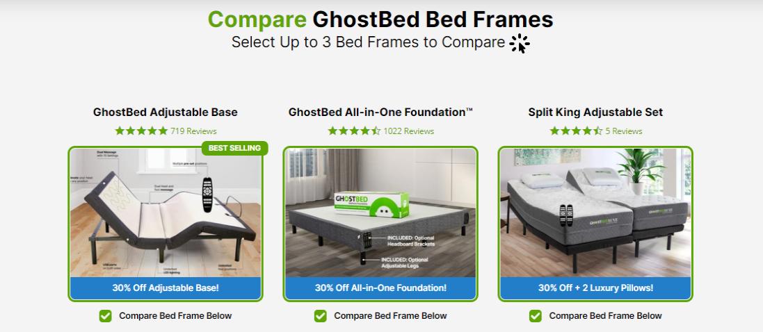 GhostBed bed frames