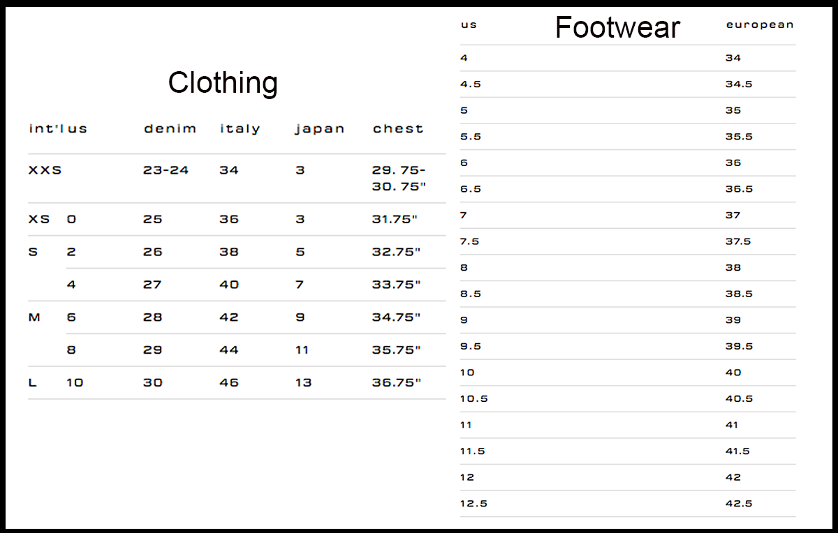 Alexander Wang Women Sizes