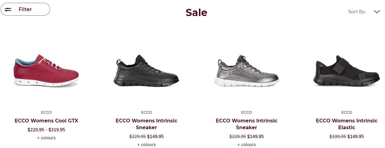 Ecco Shoes Pacific Sales