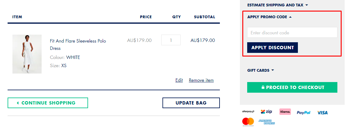 How do I use my Tommy Hilfiger promo code?