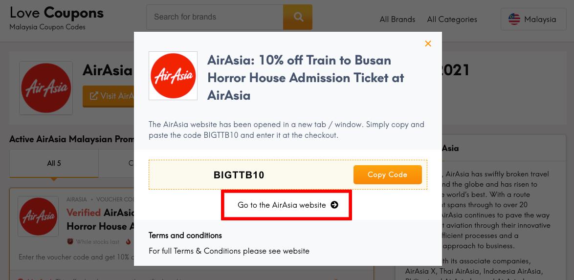 AirAsia MY Get Code