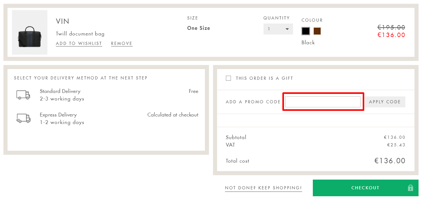 How Do I use my Ted Baker discount code?