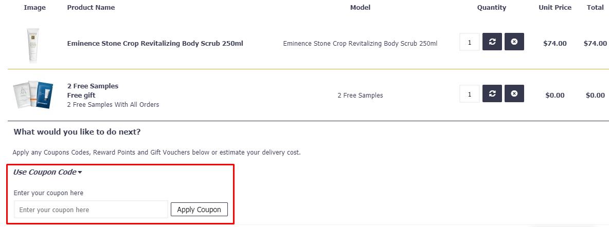 How do I use my Soho Skincare coupon code?